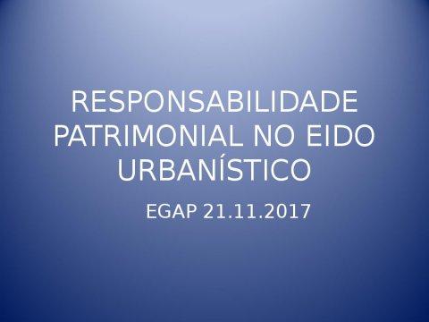 Responsabilidade patrimonial da Administración en materia urbanística - A nova configuración xurídica do urbanismo e do patrimonio cultural en Galicia
